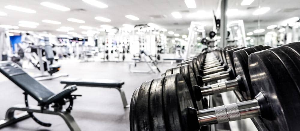 australian gym with sports writing and insurance