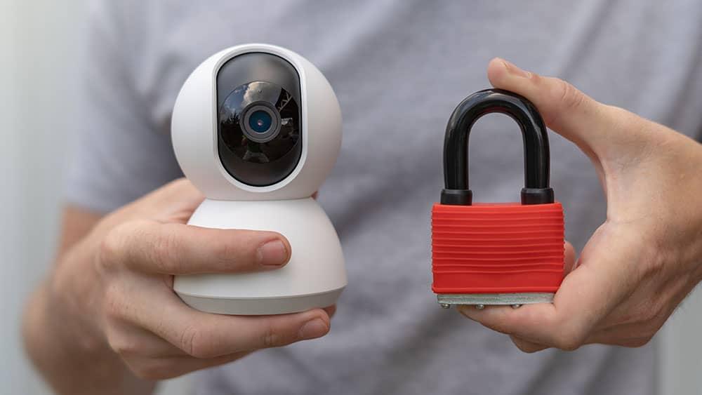 padlock and security tech