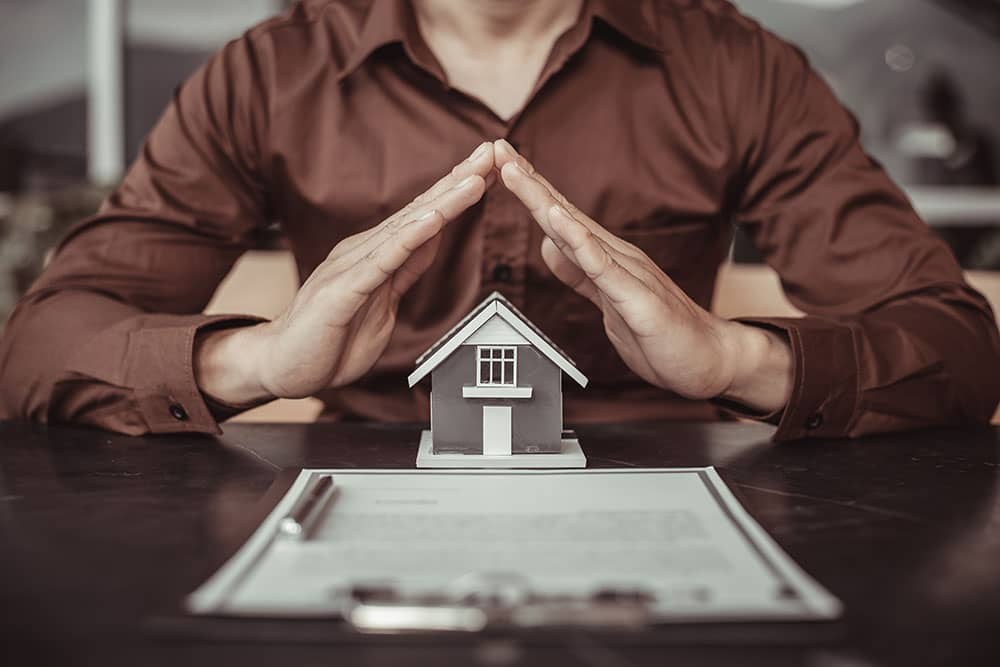 Man with home insurance