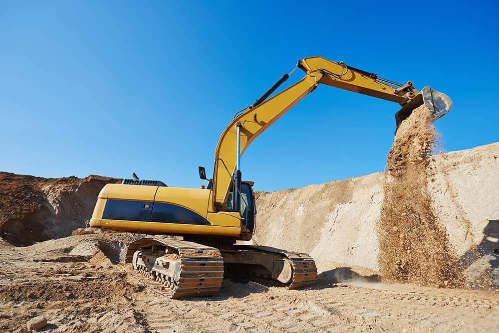 excavator for mining site